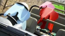Sloní stoličky Eames Elephant se vydaly na safari