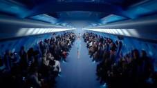 Chanel předvedl kolekci jaro 2012 v kokpitu letadla
