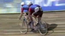 České tandemové kolo Favorit v závodech roku 1982