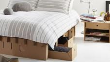 Manželská postel značky Karton je vyrobena z papíru