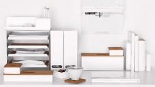 Ikea má bílou sérii Kvissle pro organizování pracoven