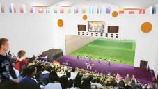 Olympijská střelnice plná lidí na záběrech z videohry