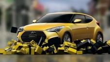 Hyundai Veloster Turbo má reklamu na hru z Lega