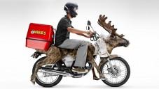 Jídlo od Habib's rozváží motorka vypadající jako jelen
