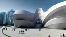 Prohlédněte si kulturní centrum od Hadid v Changsha