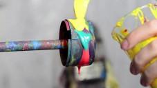 Fabian Oefner nafotil vrtačkou rozstřikované barvy