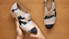 Barbora Veselá vytvořila boty inspirované geologií