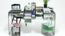 Ying Chang navrhla variabilní stůl Grid System z mřížky