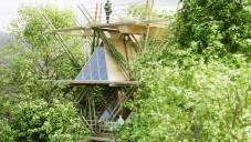 Penda navrhla několikapatrový dům postavený jen z bambusu