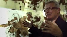 Daniel Libeskind vyzdobil pavilon v Benátkách svítícími kresbami