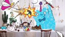 Ilustrátorka nakreslila do katalogu Ikea obrázky dětské party