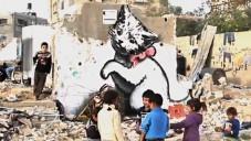 Banksy vytvořil street art ve válkou zničené Gaze
