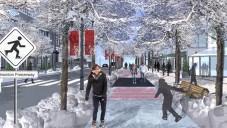 Edmonton promění v zimě jednu ulici v bruslařskou dráhu