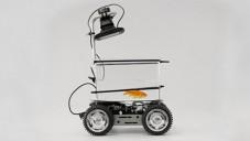 Fish on Wheels je akvárium na kolech jedoucí směrem plavby rybičky