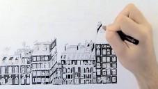 Guillaume Cornet kreslil 75 hodin ilustraci ulic Paříže