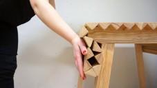 Wooden Cloth je rafinovaně skládací dřevěný stůl ze Švédska