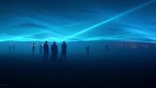 Waterlicht je světelná instalace simulující vlnění vodní hladiny
