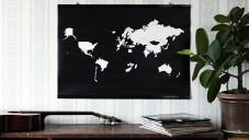 Go! World je plakát pro cestovatele k vyznačení navštívených zemí
