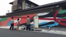 DAAS a Nao vytvořili malbu UrbanCamo na zdi v Ósace