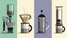 Brew Guide na animaci ukazuje jak správně mlet a vařit kávu