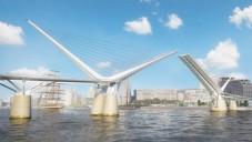 Londýn plánuje sklápěcí most Rotherhithe pro pěší a cyklisty