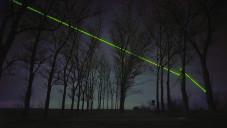 Windlicht je laserová show ukazující krásu zelené energie