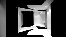 La Nouvelle Heloïse má v interiéru plovoucí černobílé stěny