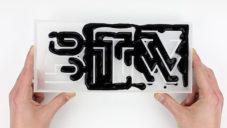 Thomas Wirtz spojuje typografii s tekutinami i kouřem
