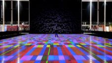 Miguel Chevalier vytvořil interaktivní projekci koberců
