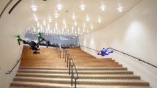 Drony natočily prázdnou Elbphilharmonie Hamburg před otevřením