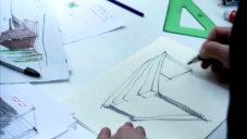 Vladan Běhal ukazuje jak navrhuje jídelní stůl