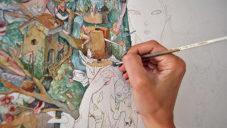 Britka natočila jak akvarelem maluje své imaginární světy