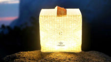 SolarPuff je solárně nabíjená a lehce skládací svítící kostka
