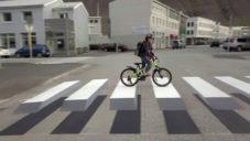 Islandské město má přechod pro chodce jako 3D optickou iluzi