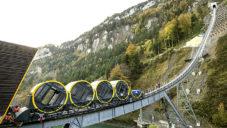 Ve švýcarském Stoosu byla otevřena nejstrmější lanovka na světě