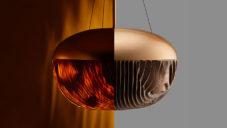 Japonskem inspirované svítidlo Mokumé v sobě kombinuje dřevo a hliník