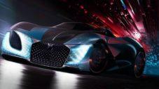 DS X E-Tense je vize elektrického sportovního vozu z roku 2035