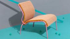 Joris de Groot navrhl křeslo Pleated Seat polstrované vzduchovým filtrem