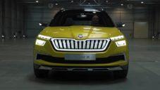 Designéři ukazují při první jízdě novou elektrickou Škoda Vision X