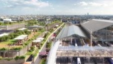 Pařížské nádraží Gare du Nord se promění na komplex se zahradami na střeše