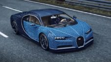 V Kladně postavili z kostek Lego funkční Bugatti Chiron v reálné velikosti