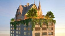 Philippe Starck staví ve Francii 14patrový hotel se zámečkem na střeše