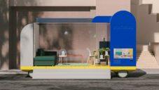 Spaces on Wheels je modulární dopravní prostředek fungující jako kavárna nebo Ikea