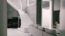 Architektka Deborah Saunt ukazuje svůj londýnský dům zapuštěný pod zem