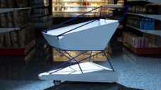 Ford vyvinul automaticky brzdící nákupní vozík chránící před nárazem