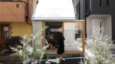 Love 2 House je miniaturní betonový tokijský domek s koupelnou na terase