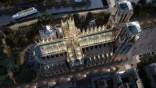 Miysis Studio navrhuje obnovit Notre-Dame prosklenou střechou se stromy