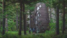 V lesích za New Yorkem robot postaví první kompostovatelsný dům Tera