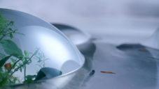 Japonský designér navrhl akvárium Water Hills z velkých bublin