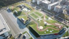 Hangzhou postavilo výstavní a kongresové centrum se sportovištěm na střeše